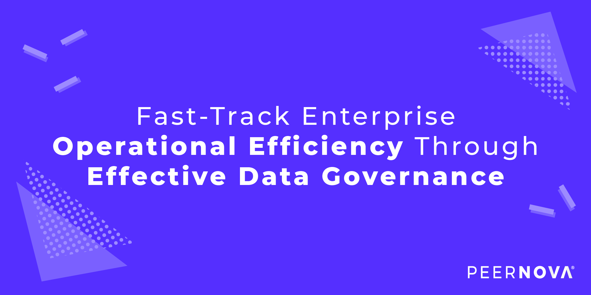 Increase Operational Efficiency with Data Governance